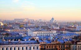 美好的照片视图从上面圣彼德堡 免版税库存图片