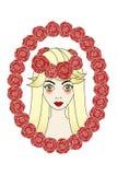 美好的玫瑰佣人纹身花刺 免版税图库摄影