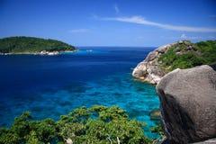 美好的珊瑚岛similan视图 免版税库存照片