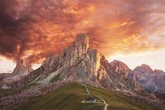 美好的白云岩风景 免版税库存图片