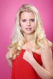 美好的白肤金发的妇女健康 库存照片