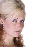 美好的白肤金发的设计 免版税库存照片