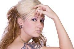 美好的白肤金发的设计 图库摄影