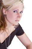 美好的白肤金发的设计 免版税库存图片
