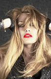 美好的白肤金发的设计 免版税图库摄影