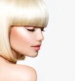 美好的白肤金发的设计 库存图片