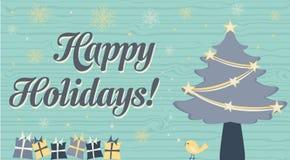 8美好的看板卡圣诞节eps文件例证包括了结构树葡萄酒 库存例证