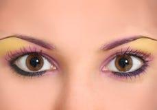 美好的眼睛构成 库存照片