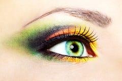 美好的眼睛构成 免版税库存照片