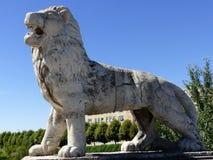 美好的石雕塑,利昂,西班牙,欧洲 免版税库存图片