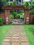 美好的砖门在曼谷 库存图片