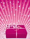 美好的礼品粉红色 皇族释放例证