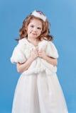美好的礼服女孩白色 免版税库存图片