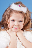 美好的礼服女孩白色 免版税库存照片