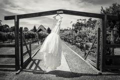 美好的礼服婚礼 免版税图库摄影