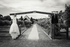 美好的礼服婚礼 库存照片