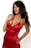 美好的礼服设计红色佩带 库存照片