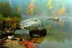 美好的秋天早晨-沃特福德,缅因2014年10月-埃里克L 约翰逊摄影 库存图片