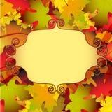 美好的秋天背景 库存照片