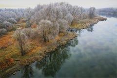 美好的秋天风景11月 免版税库存图片