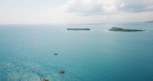 美好的空中海景用绿松石水 影视素材