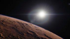 美好的空间的图象与行星的 免版税库存图片