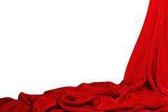 美好的红色丝绸背景 免版税库存照片