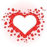 美好的红色心脏为情人节 库存照片