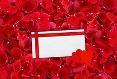 美好的红色玫瑰花瓣背景和包围(信件)与r 图库摄影