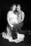 美好的纵向怀孕 免版税库存图片