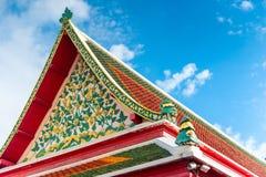 美好的细节泰国建筑学,屋顶 库存图片