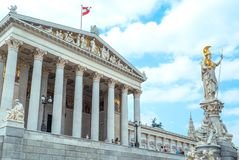 美好的维也纳建筑学 库存图片