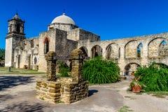 美好的老得克萨斯西班牙使命,圣约瑟。 免版税库存照片