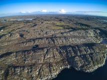 美好的自然挪威自然风景,鸟瞰图 库存图片
