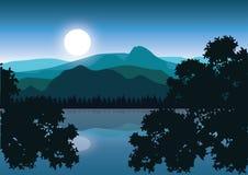 美好的自然,传染媒介例证风景 免版税库存图片