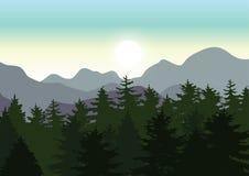 美好的自然,传染媒介例证风景 免版税库存照片