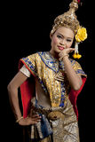 美好的舞蹈泰国妇女 图库摄影