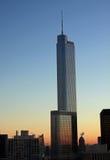 美好的芝加哥黄昏地平线 免版税库存照片
