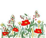 美好的花刺绣传染媒介 免版税库存照片