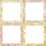 美好的花卉框架例证向量 免版税库存图片