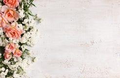 美好的花卉框架 库存图片