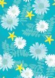 美好的花卉模式无缝的瓦片 免版税库存图片