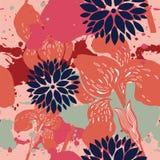 美好的花卉模式 免版税图库摄影