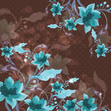 美好的花卉背景 免版税库存照片