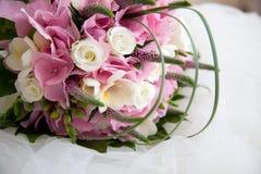 美好的花束婚礼 图库摄影