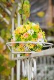 美好的花束婚礼 免版税图库摄影