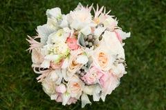 美好的花束婚礼 库存照片