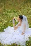 美好的花束新娘夏天 库存图片