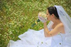 美好的花束新娘夏天 免版税库存照片