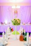 美好的花构成在婚礼之日 库存图片